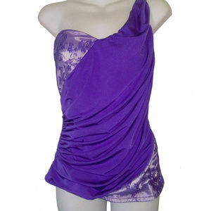 PURPLE DO & BE  SEXY SINGLE STRAP TOP